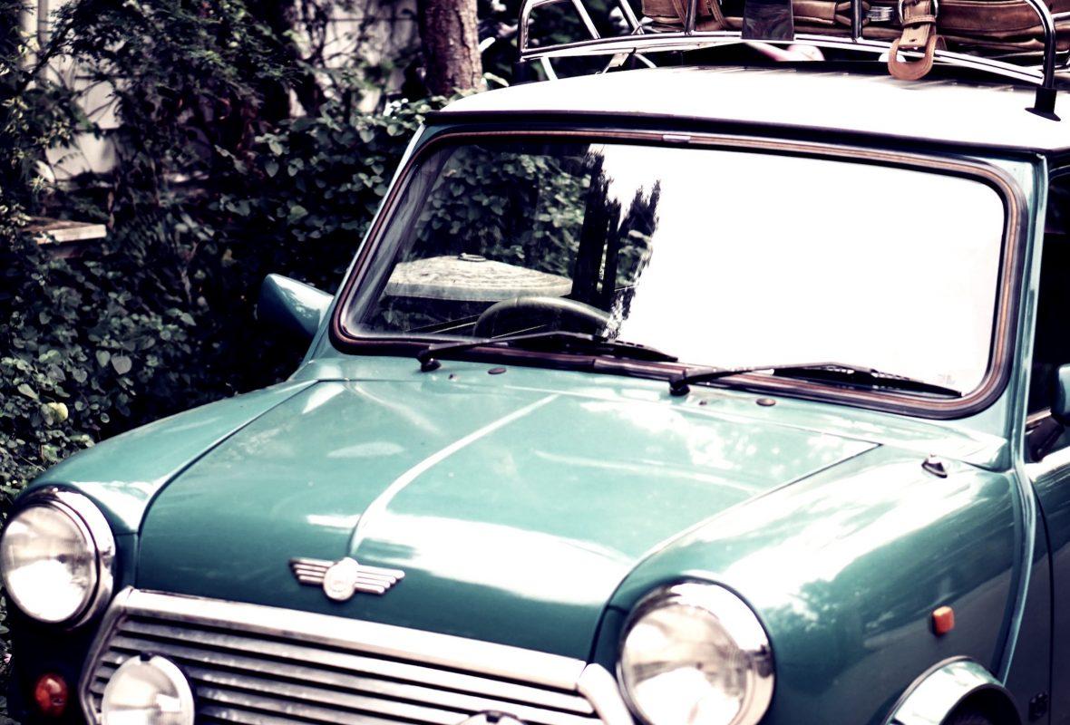 Mini Austin verte